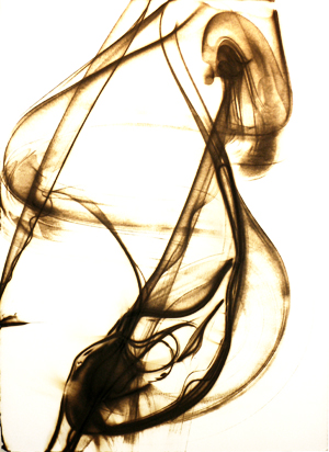 Etsuko Ichikawa. From Deai series, 2004-2008. Glass pyrograph on paper.
