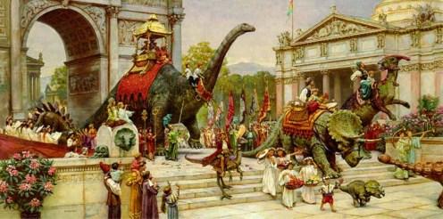 James Gurney. Dinosaur Parade, 1989.