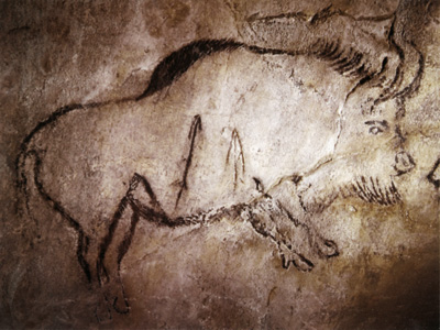 Wounded Bison. Niaux Cave, France, c. 13,000 B.C.E.