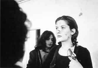"Marina Abramović. Still from ""Rhythm 0."" Performance, 1974."