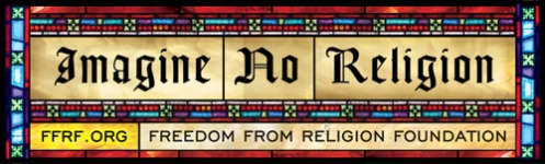 """Imagine No Religion."" Freedom From Religion Foundation billboard, 2008."