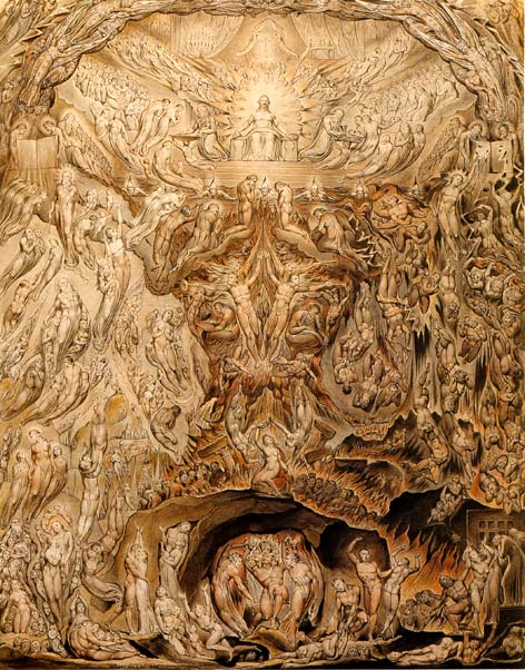 William Blake. The Last Judgement. Watercolor, 1808