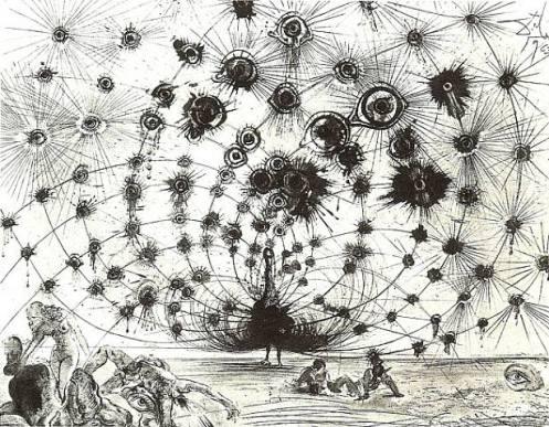Salvador Dali. Argus. Etching, 1963.