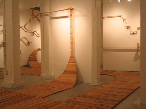 W. Scott Trimble. Divergent Paths (installation view). Crawl Space Gallery, 2006.