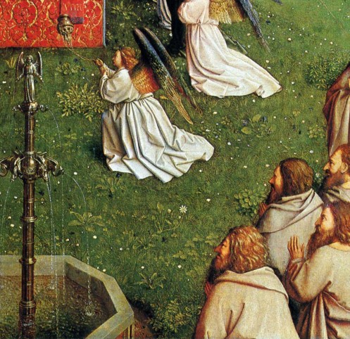 The Adoration of the Mystic Lamb (detail.)