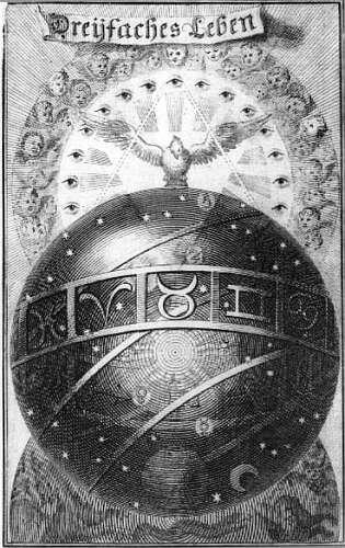 Jacob Bohme. Engraving for Dreifaches Leben. Amsterdam, 1682.