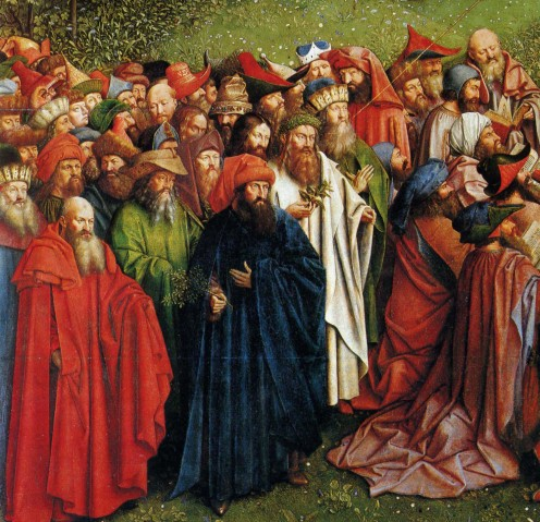 The Pagan Philosophers. Detail from the Adoration of the Mystic Lamb.