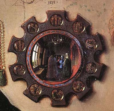 Jan Van Eyck. Detail from the Arnolfini Portrait. Oil on panel, 1434.