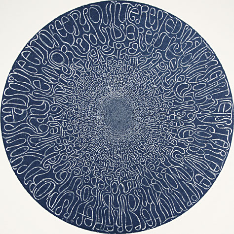 Ben Beres. Opening. Relief rolled etching, 2008.