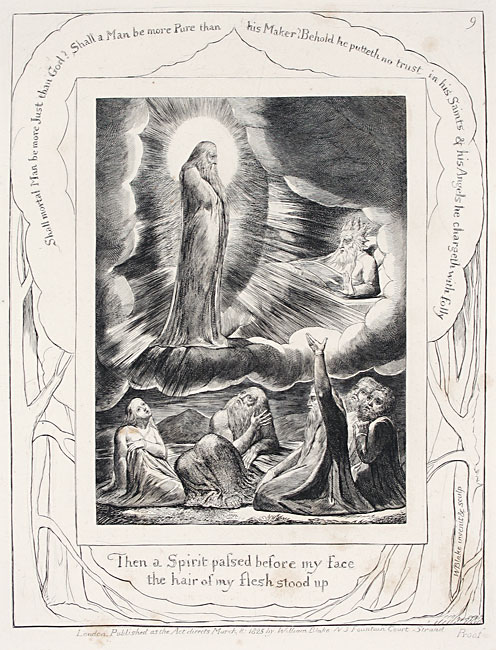 William Blake. Then a Spirit Passed Before My Face. Engraving for the Book of Job, 1825.