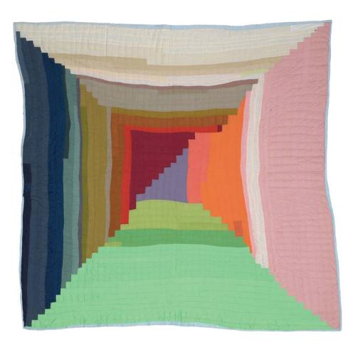 Nancy Pettway. Bricklayer Variation. Quilted fabric, 2003. 71 x 71 in.