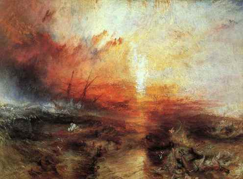 J. M. W. Turner. The Slave Ship. Oil on Canvas, 1840. Museum of Fine Arts, Boston.