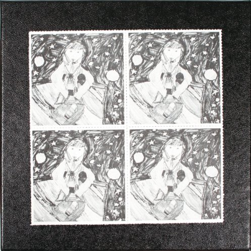Terry Riley. Cover for SMS cassette featuring artwork by his 9-year-old daughter, Colleen.