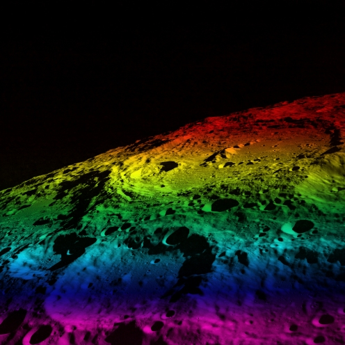 Jack Ryan. Moon/Color Spectrum. Archival digital print, 2008. 24 x 24 inches.