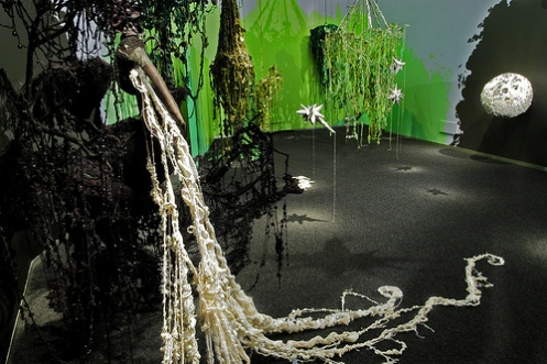 Mandy Greer. Dare Alla Luce. Installation view at Bellevue Arts Museum, 2008. Photo by Nora Atkinson.