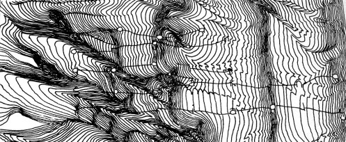 Timm Mason/Mood Organ. God is Speaking Reliably. Ink on paper, 2004.