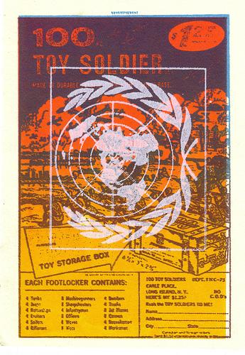 Larry Sommers. Toy Soldiers. Silkscreen, 2007. Image via PrintZero Studios.