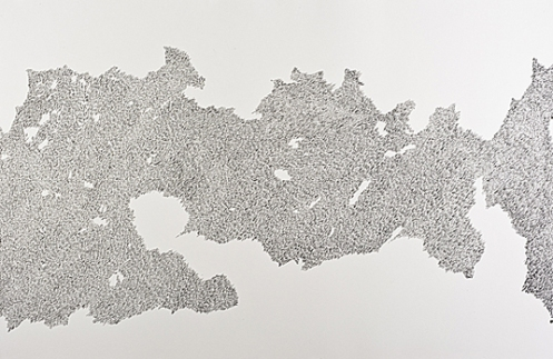 Joseph Pentheroudakis. Above the Fray. Pen and sumi ink, 2008. 32 x 48 in.