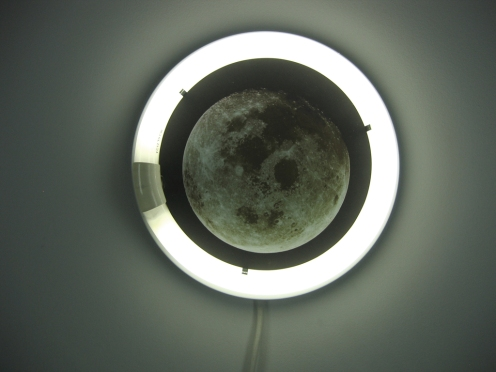 Jack Ryan. Moon Fixture. Mixed media, 2008.