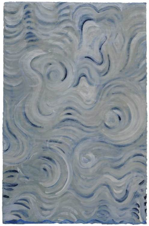 Susan Skilling. Eternal Sky. Gouache on Thai mulberry paper, 2008. 37 x 24 in.