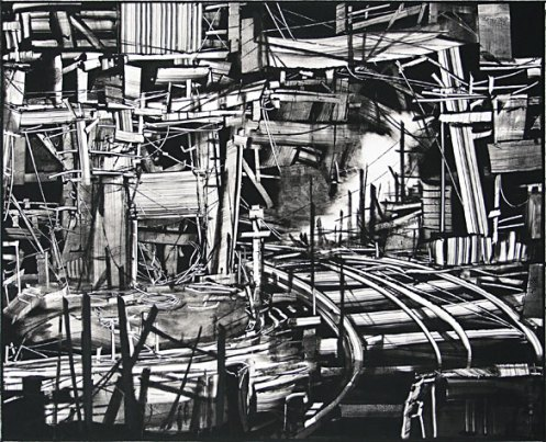 Kevin Fletcher. Mine Closure/Dismantling the Ore Processing Division. Monotype, 2009.