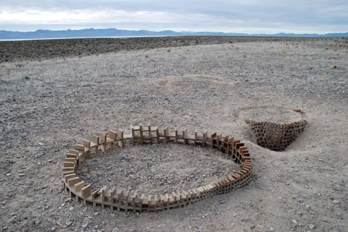 John Grade. Fold: Great Basin Desert, Nevada. Photograph of buried sculpture, 2008.