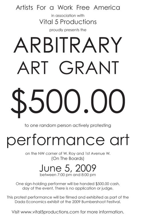 Arbitrary Art Grant