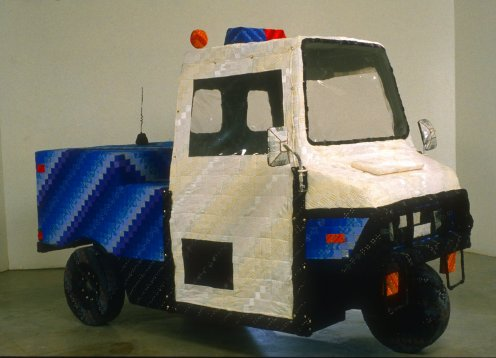 Paul Margolis. I Imagined Myself as a Meter Maid. Quilted fabric, wood, metal and foam, 2002.