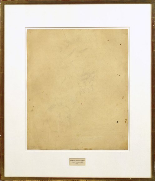 Robert Rauschenberg. Erased De Kooning Drawing, 1953.