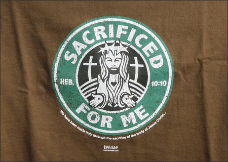 Jesus as the Starbucks logo. Via seattlepi.com