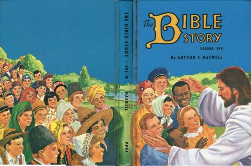 Artist unknown. Cover illustration for The Bible Story, Vol. 10. Pacific Press, 1957.