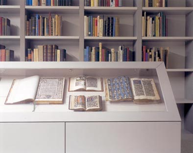 Rare illuminated books on display at Bibliotheca Philosophica Hermetica, Amsterdam