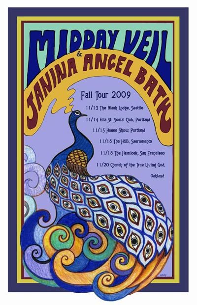 Midday Veil + Janina Angel Bath tour poster