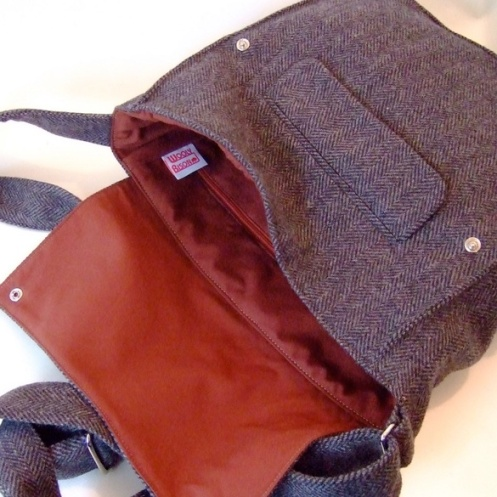 Wooly Bison - Recycled Blackjack Satchel