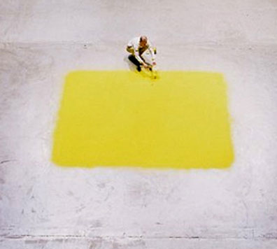 Wolfgang Laib - Yellow Square