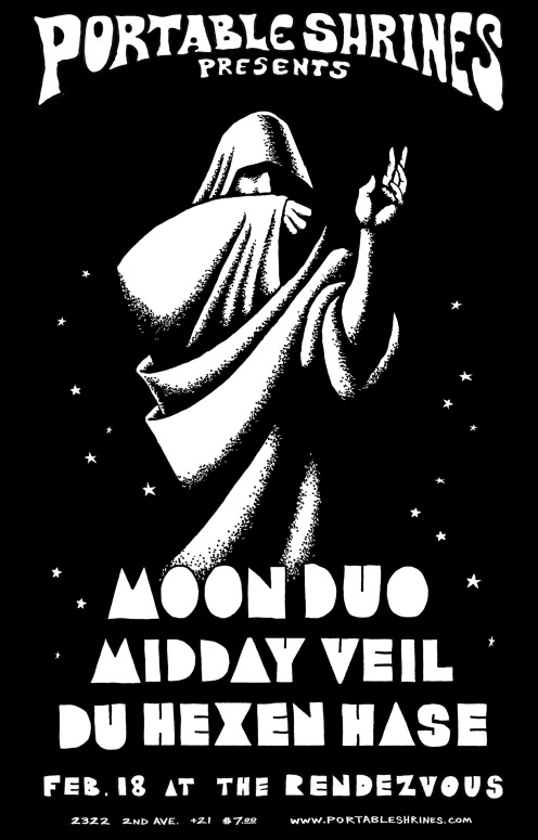 Portable Shrines - Moon Duo, Midday Veil, Du Hexen Hase