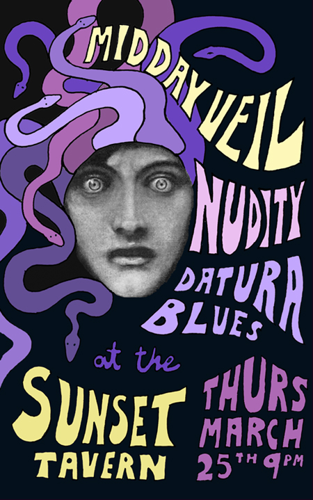 Midday Veil, Nudity & Datura Blues at the Sunset Tavern