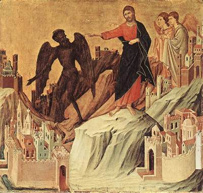Buoninsegna - Temptation on the Mount