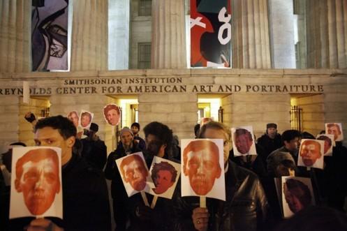 Wojnarowicz Smithsonian protest