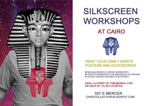 Silkscreen workshops at Cairo