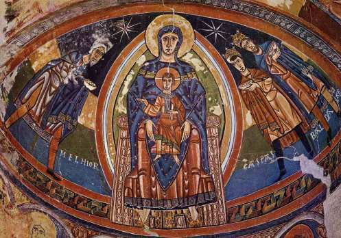 The Virgin Enthroned.