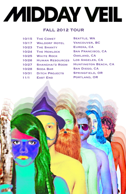 Midday Veil fall tour 2012