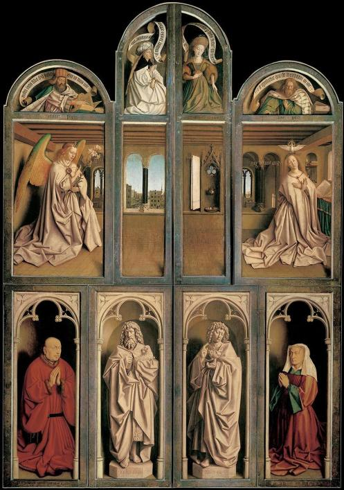 Jan Van Eyck, The Ghent Altarpiece (closed)