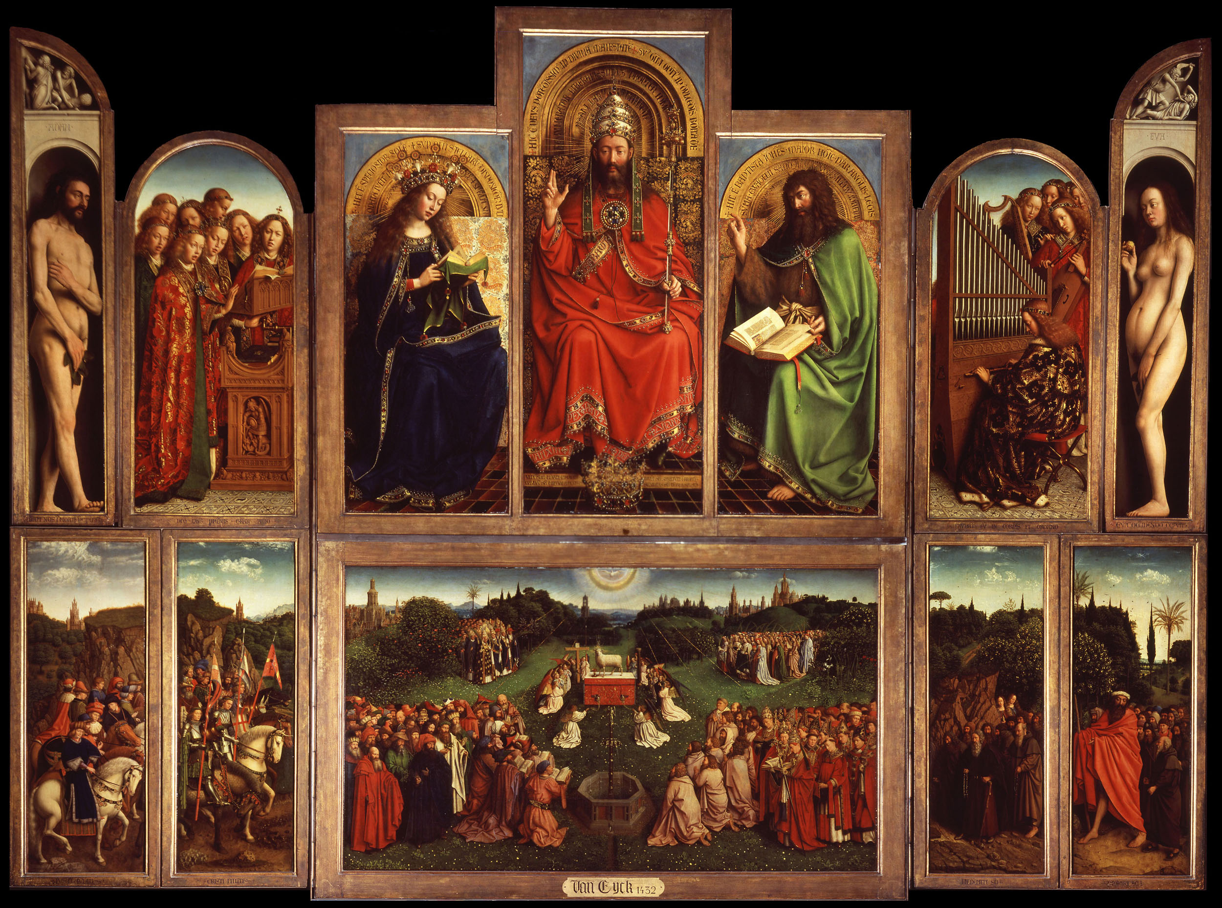 Ghent Altarpiece Lamb The Mysteries of the M...
