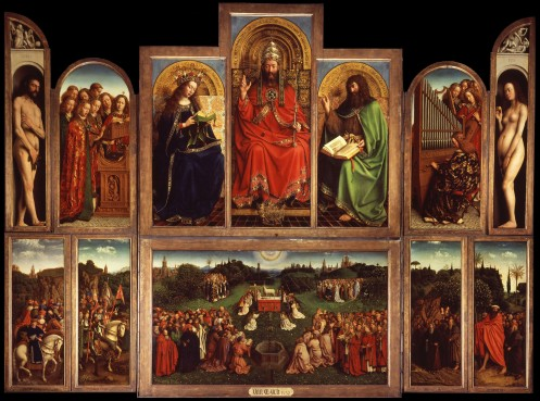 Jan Van Eyck, The Ghent Altarpiece (open), 1432