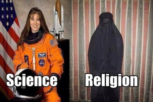 "Atheist meme regarding the percieved ""science/religion"" dichotomy"