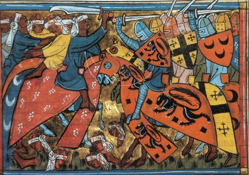 European Christians kicking Muslim ass during the Crusades